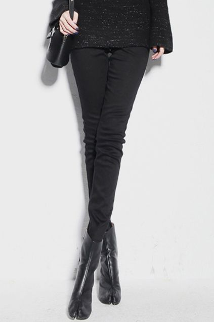 #Romwe Thicken Black Pencil Pants