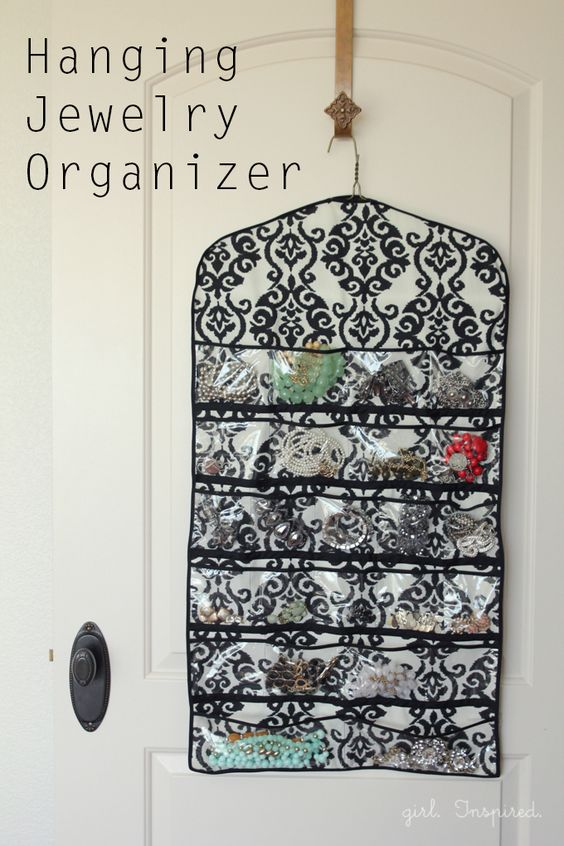 Empty your drawers and reclaim some space by crafting a hanging jewelry organizer with the help of this tutorial by Jo-Ann's. What can you see yourself using this organizer to hold?: