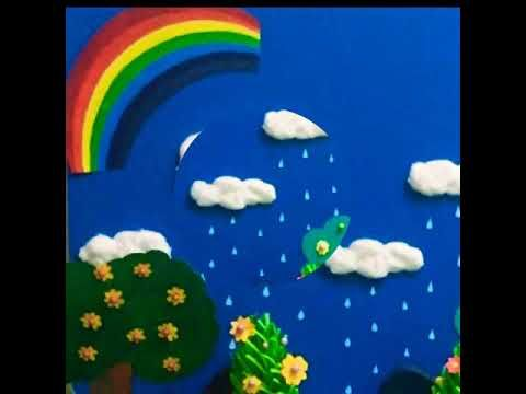 Spring Season Model For Exhibition Youtube Spring Season Rainbow Card Exhibition