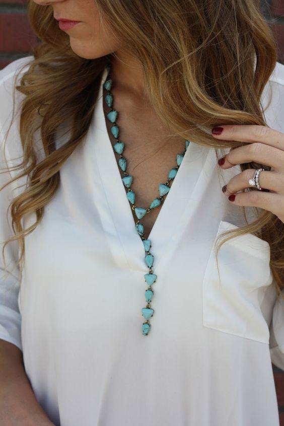 Turquoise Y-Chain - Twenties Girl Style: