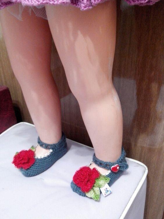 sapato boneca Isabella ..no.17-18. Ruth Costa Dos Santos facebook
