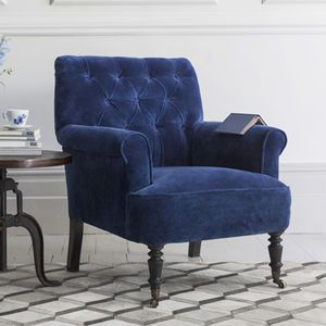 Pimlico Button Back Velvet Armchair - cosy home updates