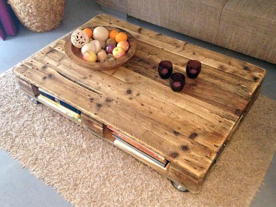 palettentisch ablagefach europalette. Black Bedroom Furniture Sets. Home Design Ideas