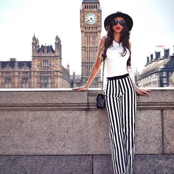 Pantalones Rayados El Nuevo Objeto Del Deseo En Primavera Moda De Ropa Ropa Formal Mujer Ropa
