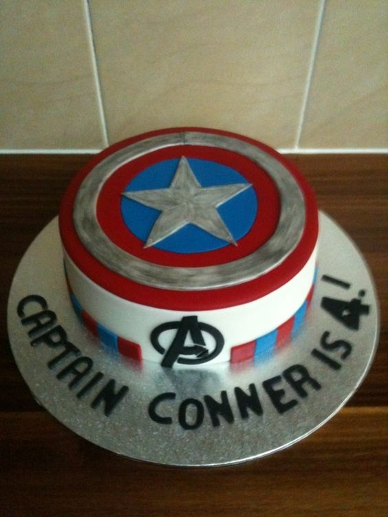 captain america cake nice idea for my little super hero Cakes