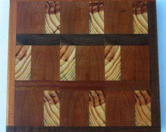Organic Purple Heart End Grain Cutting board by NewUrrbanDesigns