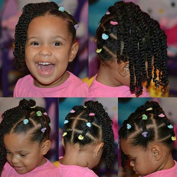 Super Cute Style Via Nolaredgirlre Quick Hair Idea For My Babe I Might Twist Out The Side For Sch Natural Hair Styles Easy Kids Hairstyles Hair Styles