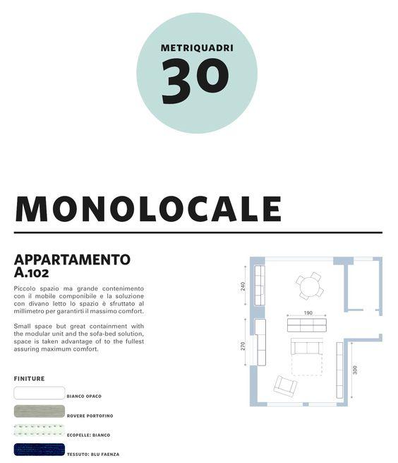 Comp arredamento monolocale 30mq soluzione for Arredamento completo berloni
