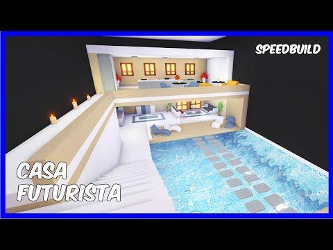 Casa Futurista Decorando Piscina Adopt Me Roblox Youtube Futuristic Home Cute Room Ideas Cool House Designs