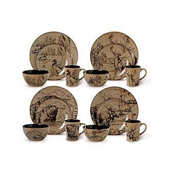 Mossy Oak® Great Outdoors 16-pc. Dinnerware Set
