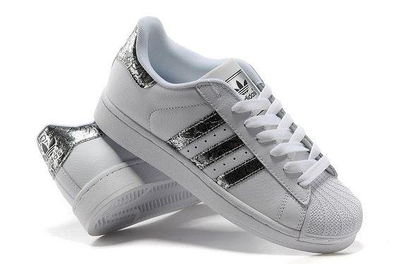 Adidas Superstar Femme Blanche Et Argent