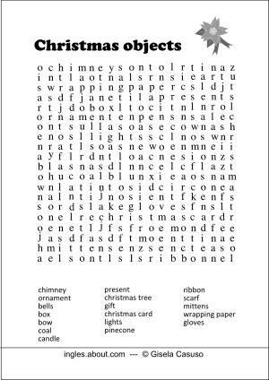 5 sopas de letras de navidad en ingl s navidad and - Sopa de letras de navidad ...