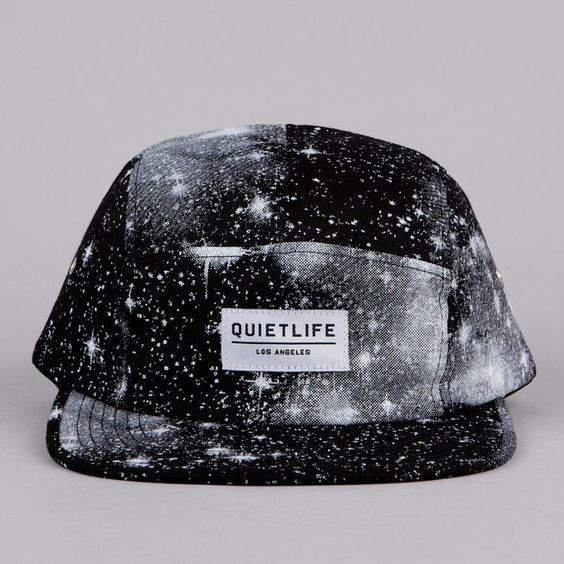 The Quiet Life Cosmos 5 Panel Cap Black
