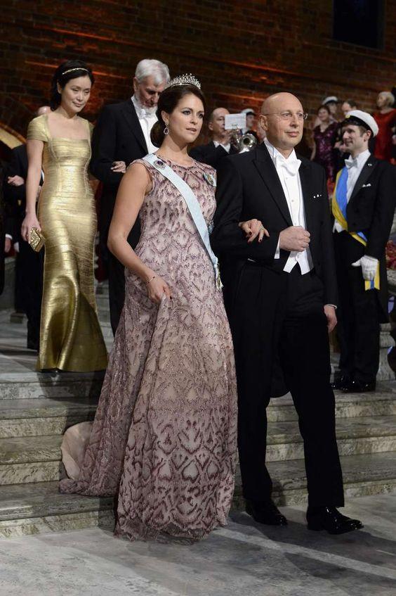HRH Princess Madeleine of Sweden tiara: Nobel Prize ceremony 12/10/2014