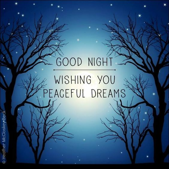 Good Night. Wishing you peaceful dreams #goodnight good night quotes trees stars…