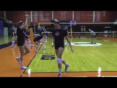 Illinois Volleyball Plyometric Routine Youtube Plyometrics Volleyball Training Volleyball Conditioning