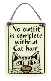 No Outfit is Complete Cat Plaque