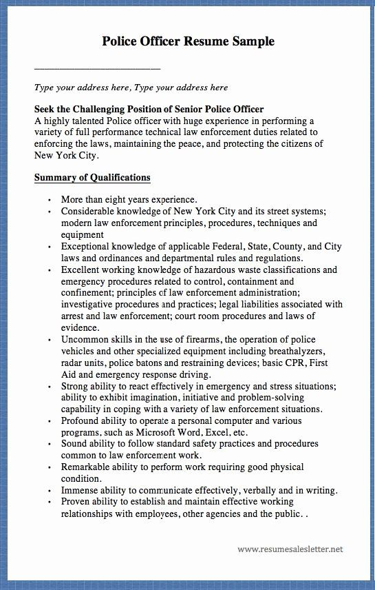 27 Military Police Job Description Resume In 2020 Police Officer