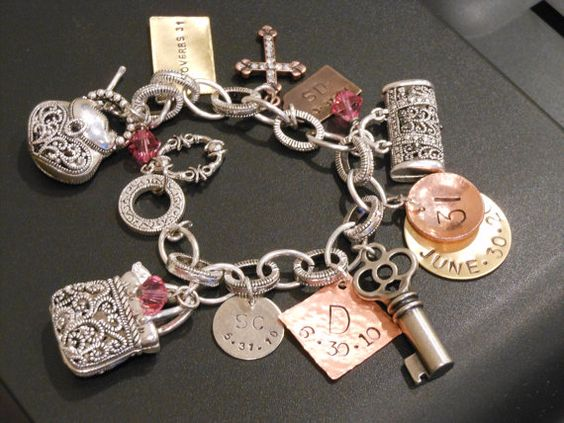 One Of A Kind Hand Stamped ThirtyOne Bracelet by beebeedesignswv, $85.00