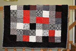 Scrappy Minky Quilts. Free Pattern