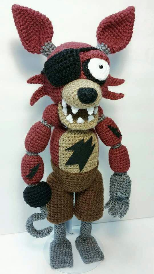 Amigurumi Foxy : Amigurumi Pirate Foxy from Five Nights At Freddys. I made ...
