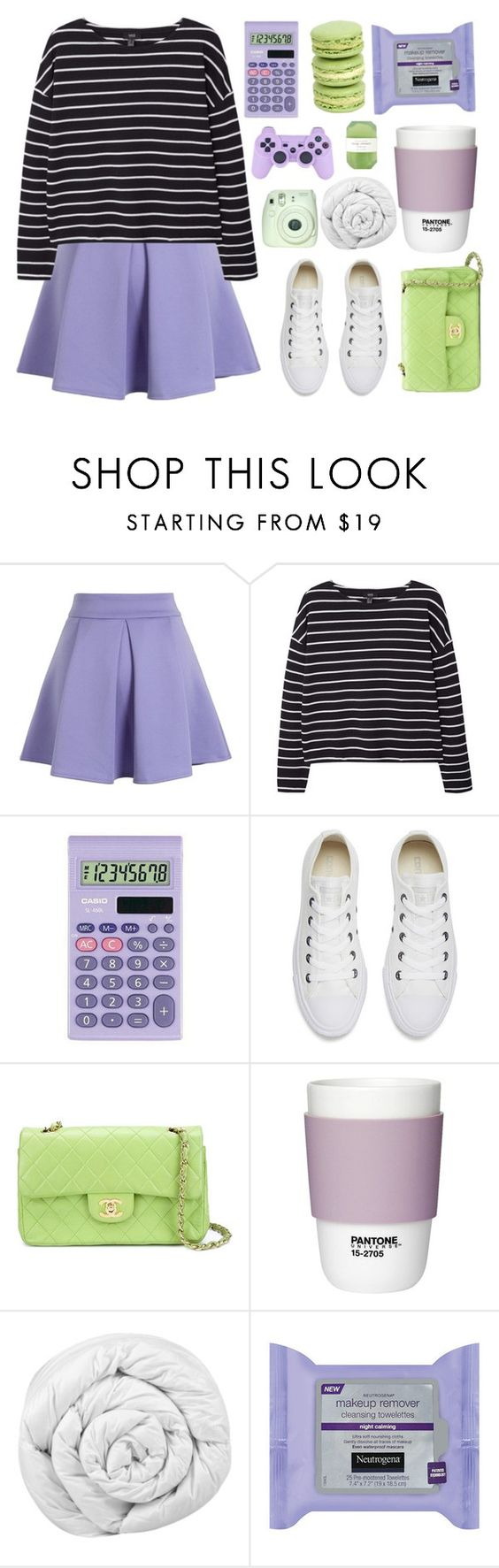 """~remember me for centuries"" by spellbooks-and-wands-xo ❤ liked on Polyvore featuring Chicwish, MANGO, Casio, Converse, Chanel, Pantone, Brinkhaus, Fuji and Pelle"