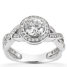 round diamond antique ring