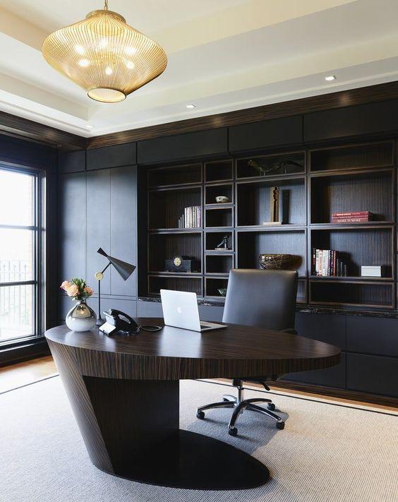 7 Inspirations Home Office Desk Furniture Vankkids Com Modern Office Interiors Modern Home Office Desk Home Office Design