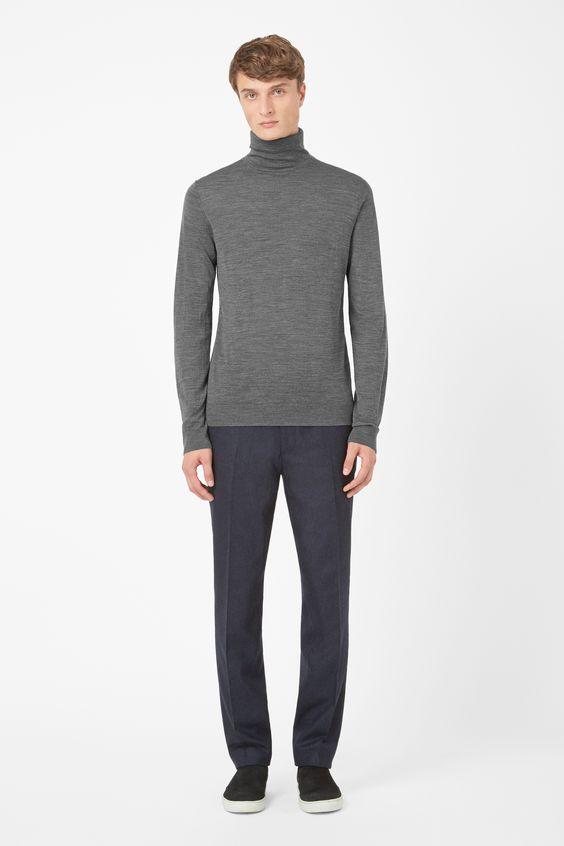 Merino roll-neck jumper
