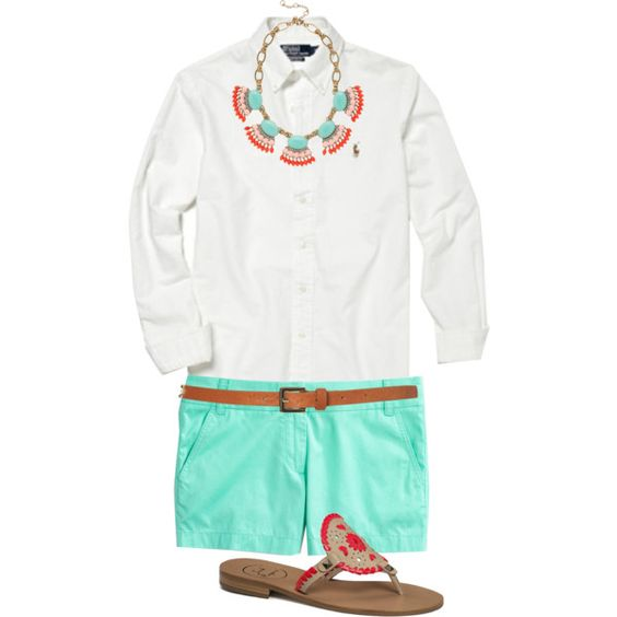 """""""Spring Brights"""" by classically-preppy on Polyvore"""