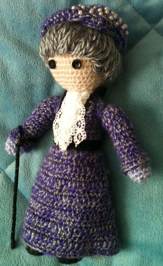 The Right Honourable Violet Crawley, Countess of Grantham - amigurumi version. @Jessica Carnrike