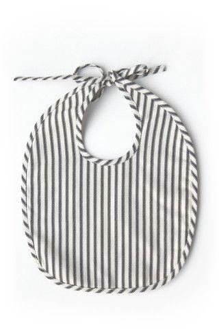 Bib - Ticking Stripe – Odette Williams