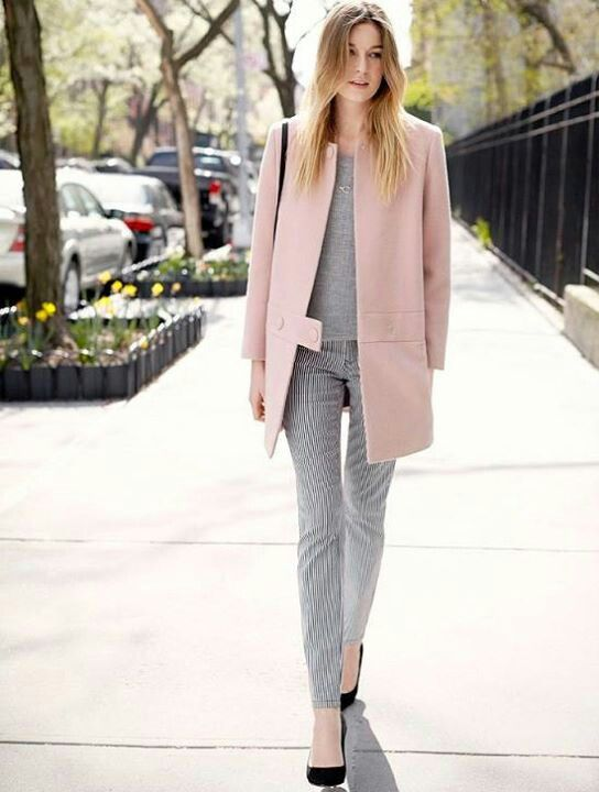 Soft Pink Coat - Coat Nj