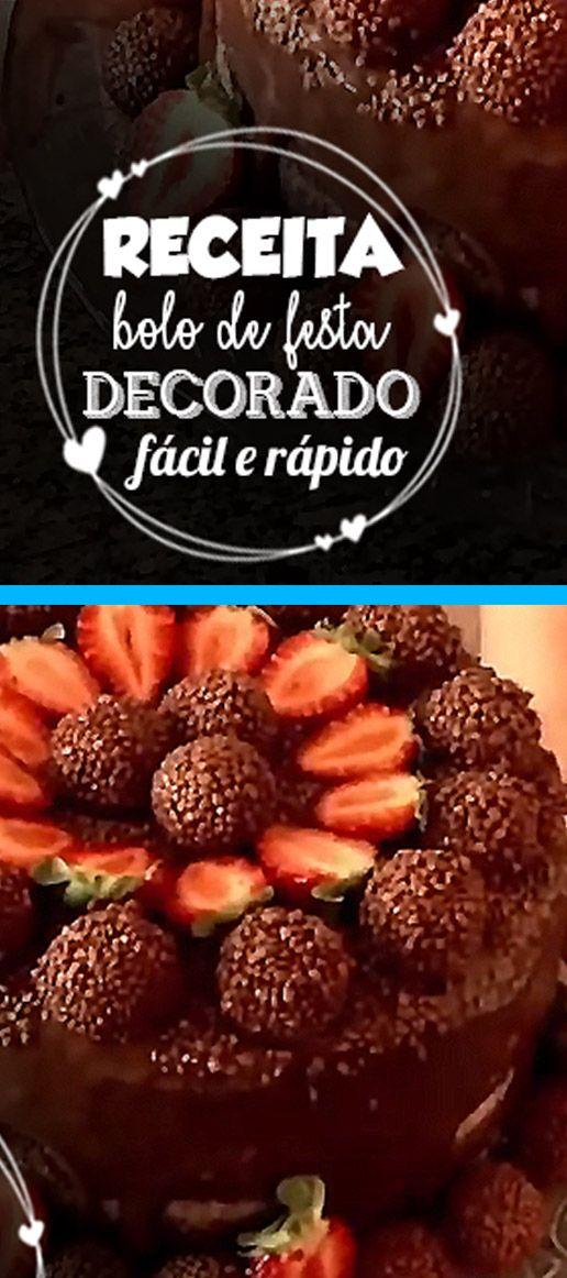 Receita Bolo De Festa Decorado Facil Bolo De Festa Bolo De
