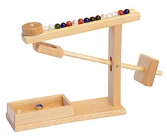 Marble machine amish handmade working wood mechanical toy