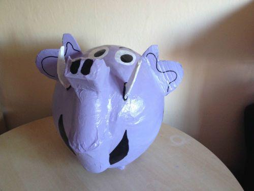 Paul der lila Elefant - Colani Elefant - Elefant - Geldgeschenk - Sparschwein -  ©by Ramona Meyburg  Außergewöhnliche Geschenkidee , Briefbox, Geldgeschenk