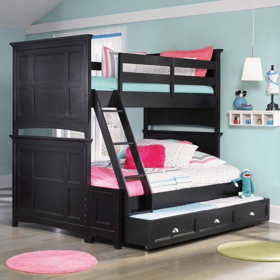 Have to have it for AJ's room, love that it is 3 beds in one...hello sleepovers ;) Bennett Twin over Full Bunk Bed.