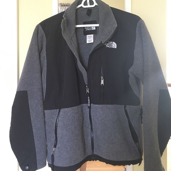 North Face Grey Fleece Jacket | Coats, North face fleece jacket ...