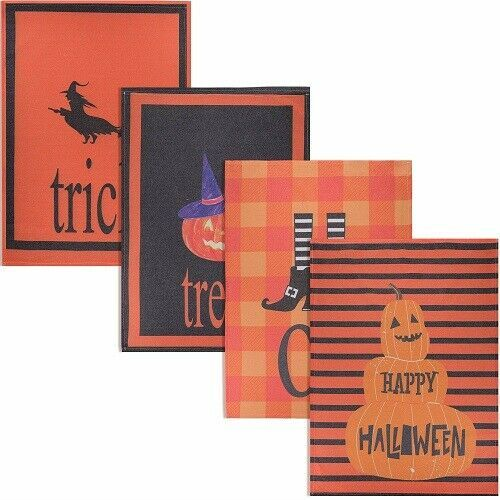 Halloween Dish Towels Terry Cloth 3 Pc Set Kitchen Cloths Scary