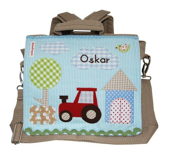 Kindergartenrucksack  - Mein kleiner Traktor - von wohnzwerg  http://de.dawanda.com/product/40743146-Kindergartenrucksack---Mein-kleiner-Traktor--