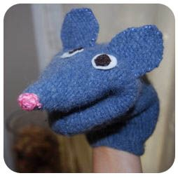 Mouse Puppet Pattern for a Felted Sweater