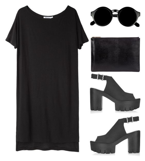 """""""2842"""" by tiffanyelinor ❤ liked on Polyvore featuring T By Alexander Wang, Topshop, Whistles and Retrò"""