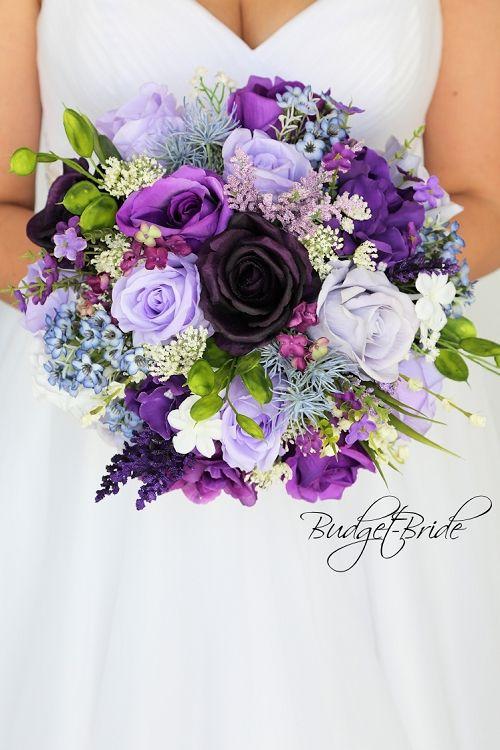 Purple Lavender Wild Flower Look Mixed Purples Plum Wedding Bouquet Purple Wedding Bouquets Purple Wedding Flowers Purple Bridal Bouquet