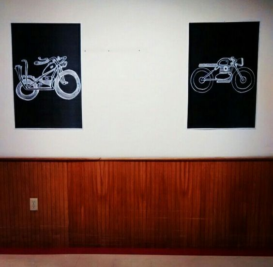 """Tomorrow my art will be up at the """"welcome east"""" motorcycle show. Stop by and check out the killer motorbikes! 3rd Floor, 1 Washington Center, Dover NH 6pm - 9pm"""