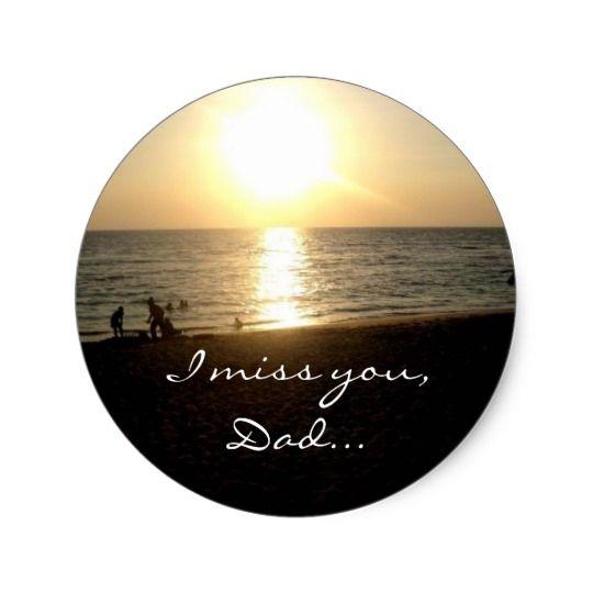 Manila Sunset I Miss You Dad Sticker Zazzle Com With Images