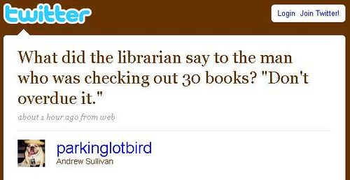 Library puns are fun