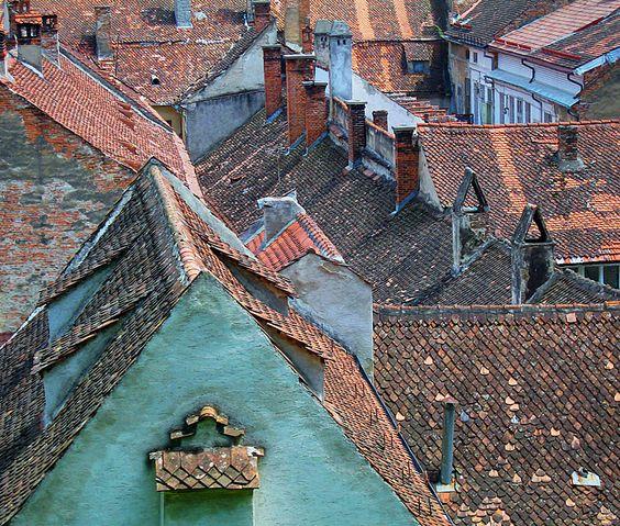 Romanian roofs - Brasov, Brasov