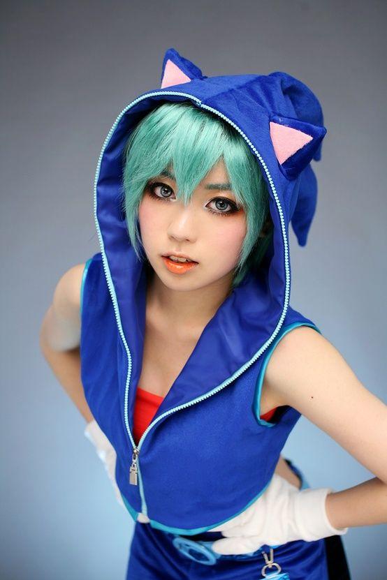 Sonic Miku #cosplay: