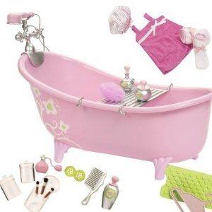 Pink Bathtub Set For 18 Inch Doll Ag 18 Inch Doll House