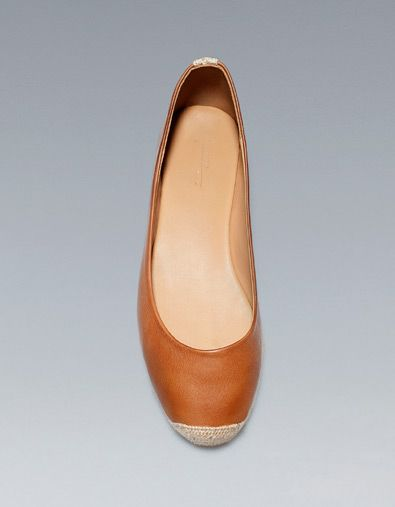JUTE BALLERINA - Shoes - Woman - ZARA United States {Jute!  These are darling.  They won't work in my climate, but I had to share.  I adore them.}